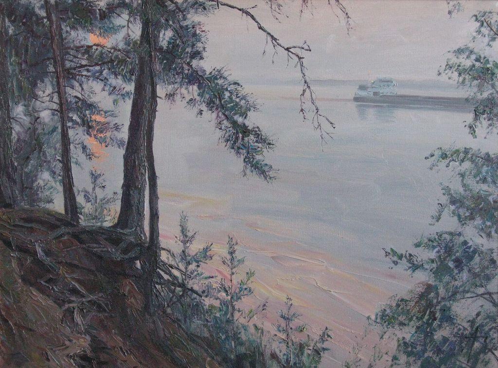Закат. Волга