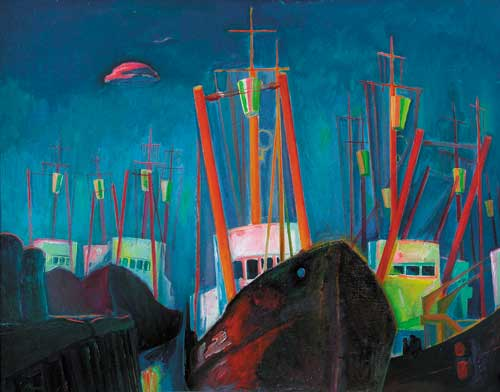 А.А.Карих. Облако Дельфин. 1980. 77х100. Х.м.