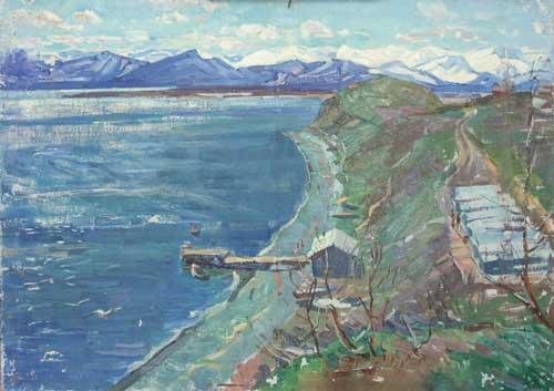 Н.Кулёва. Камчатка. 1960. Х.,м..