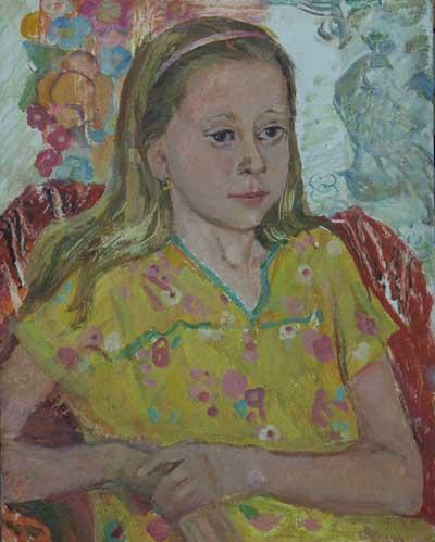 Н.Кулёва. Портрет Оксаны. 1989. К., м.