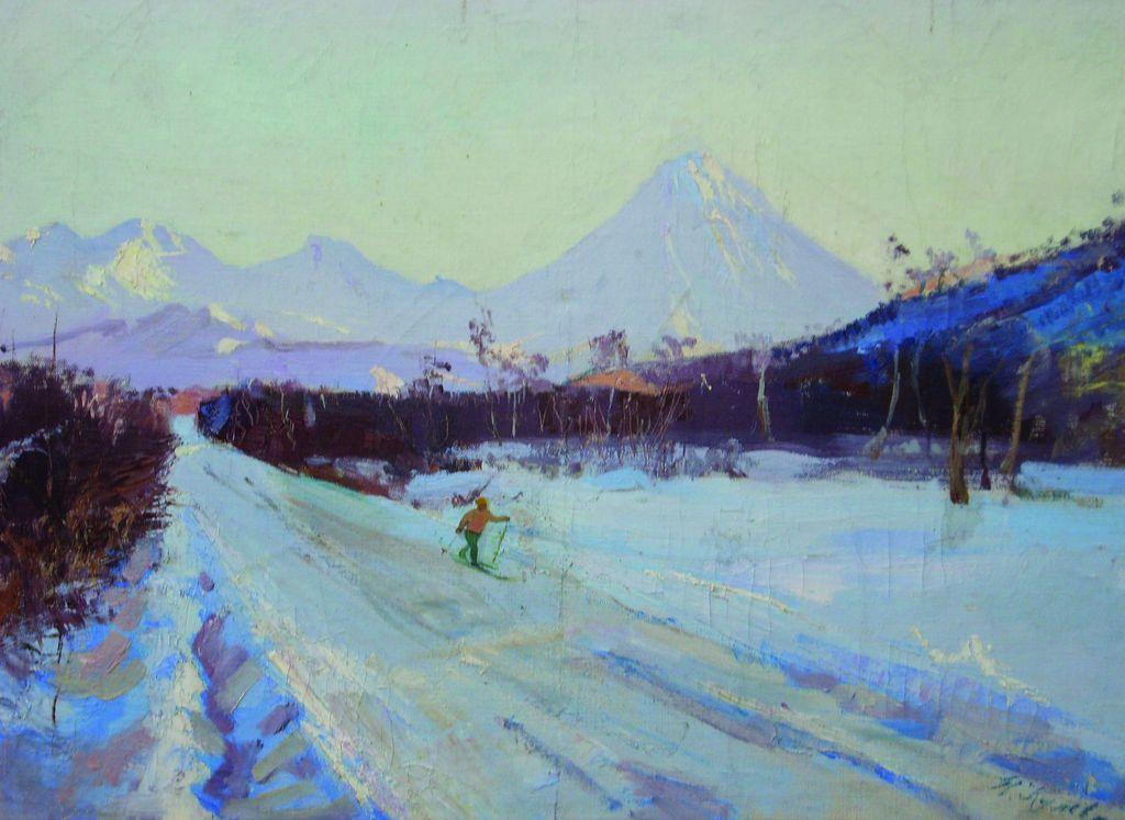 Н.Кулёва. Камчатские просторы. 1961. 53х76,5 см., холст, масло.