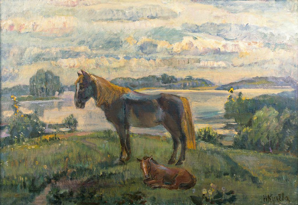 Н.Кулёва. Тишина. 2009. 55,5х79,5 см., холст, масло.