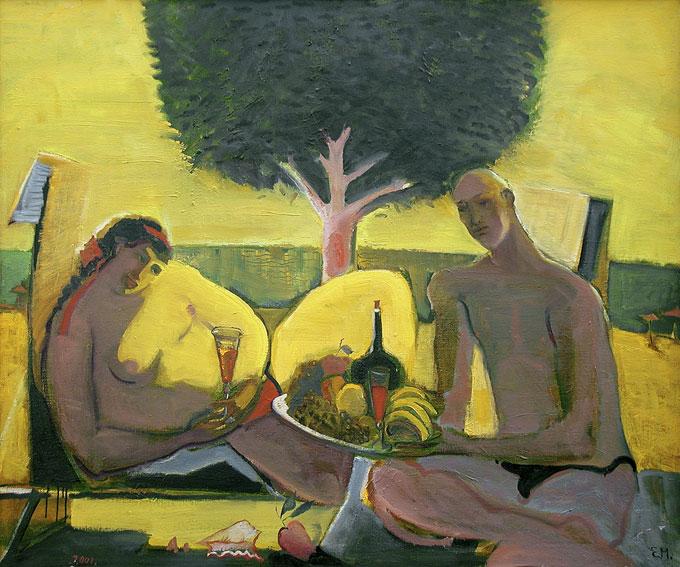 Е.Ф.Мухина. Пляж III. Холст, акрил, масло. 100х120. 2001 г.