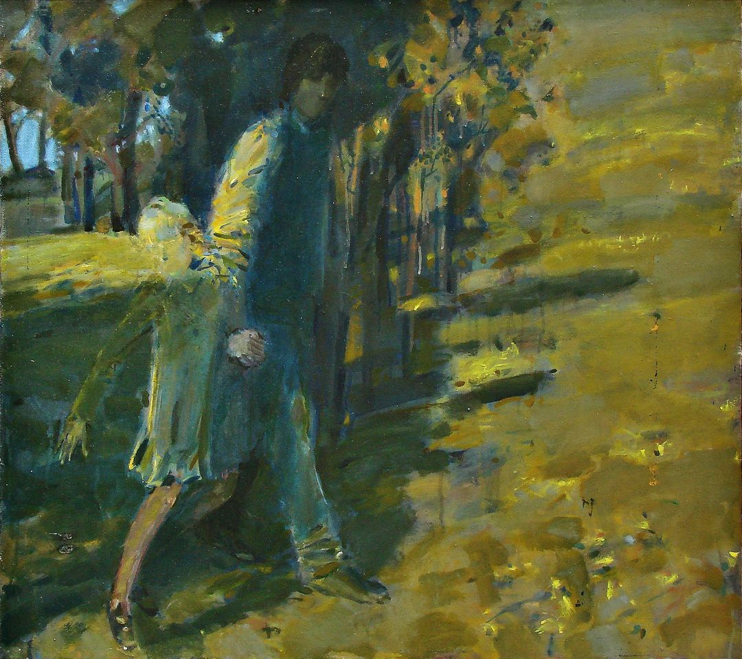 А.Н.Сериков. Бабье лето. 1991. 80х90 см., холст, масло, темпера.