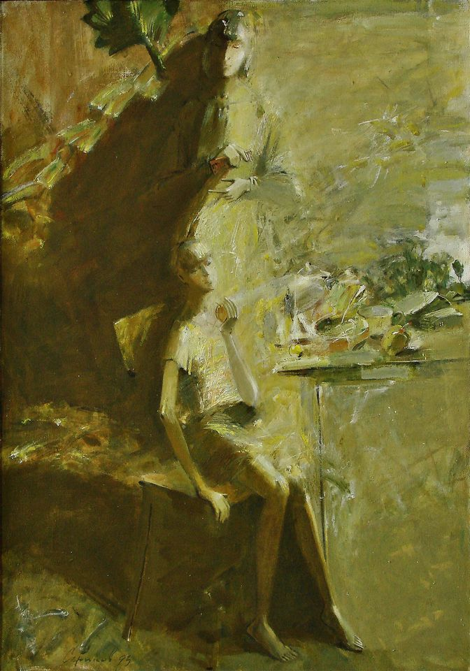 А.Н.Сериков. Без времени. 1993. 100х70 см., холст, масло, темпера.