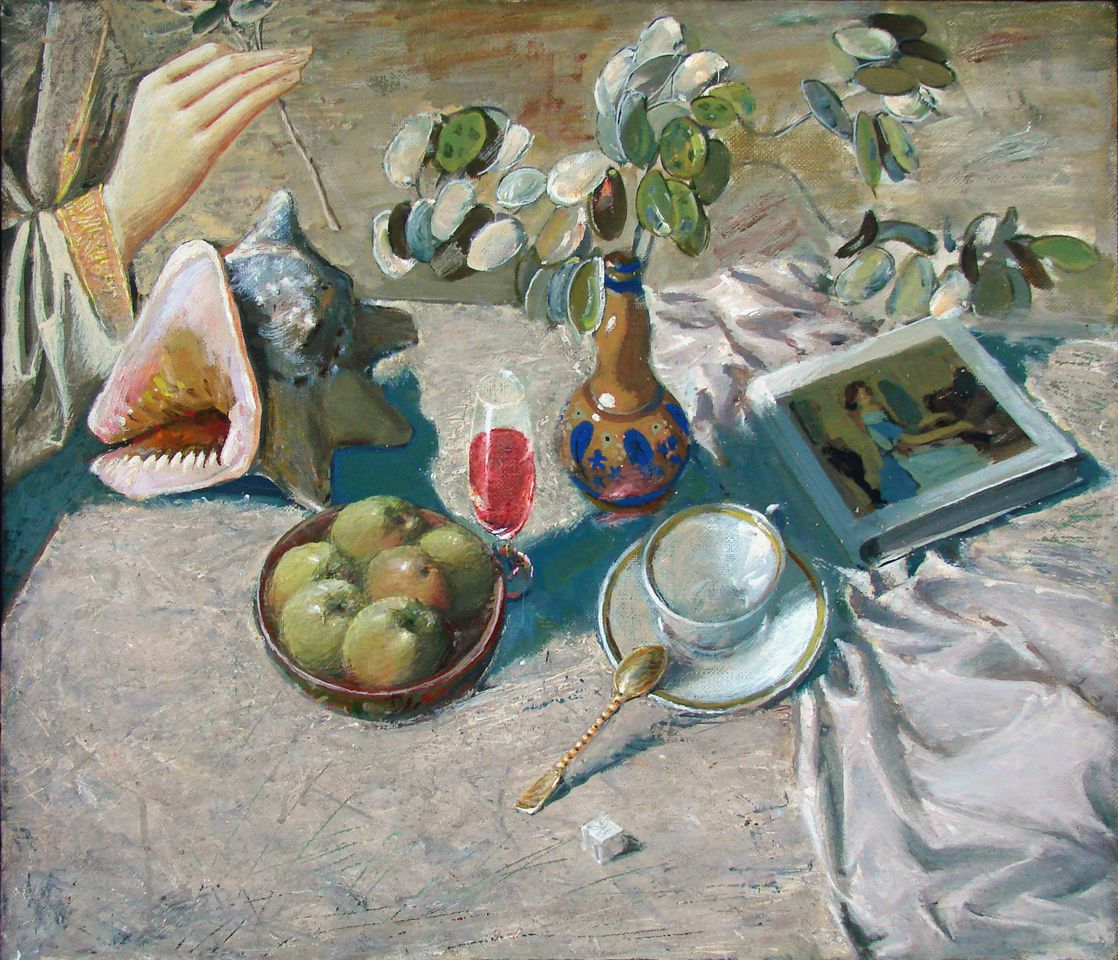 А.Н.Сериков. Натюрморт с ракушкой. 60х70 см. холст, масло, темпера.