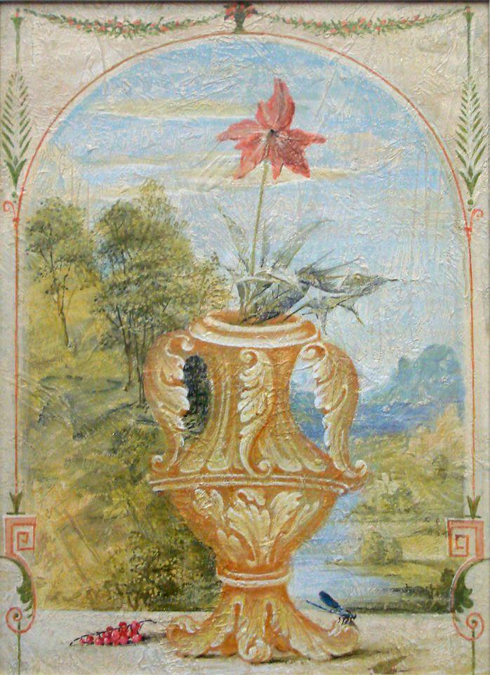 А.Н.Сериков. Цветок. 63х46 см., двп, акрил.