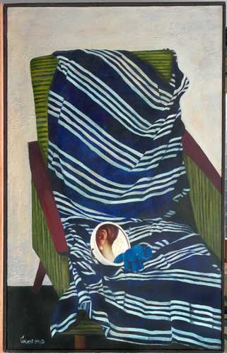 С.Н.Соколов. Кресло. 135х85. Х.м., 1994 г.