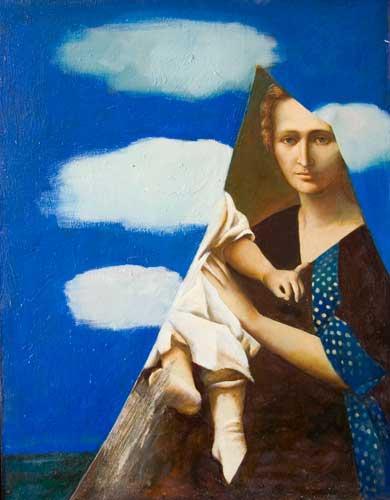 С.Н.Соколов. Осколок зеркала. Х.м., 90х70. 1993. Цена - 200 000 руб.