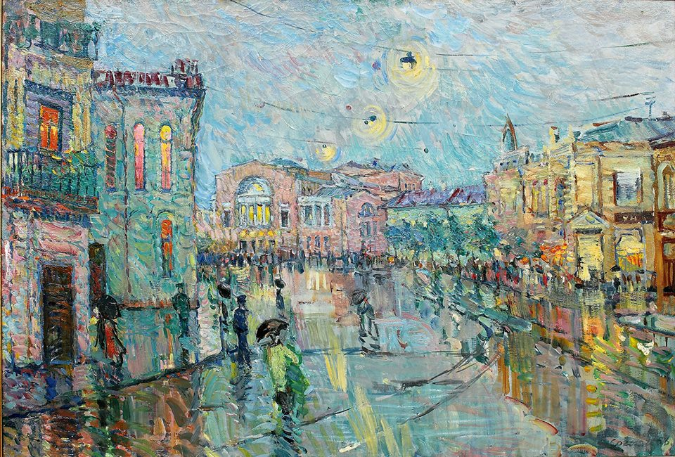 Соколова А.Л. Театр имени Ф.Г. Волкова. 1957. Х., м. 74,8x109,9. ЯХМ.