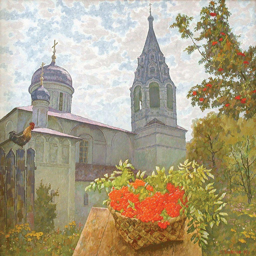 В.А.Ульянов. Август. 1998. 75х75 см., холст, масло.