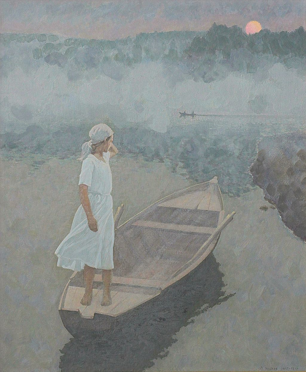 В.А.Ульянов. Утро на Волге. 1995-1998. 80х60 см., холст, масло.