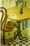 Л.Н.Егорова. Ожидание. 1997. Темпера, картон. 50х80.