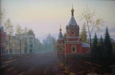 Ф.Ф.Вдовин. Часовня Александра Невского. 2004 г. Холст, масло. 100х70 см.