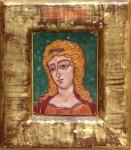 Е.А.Карих. Ангел – златые власа. 2002.13х10. Медь, эмаль.