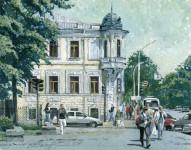 И.А.Сакуров. Дом Петражицкого. 2007. 20х30 Бумага, гуашь.