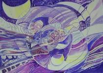 "Г.П.Есафьева. Серия ""Радуга"" 5. 2007. 70х90. Бум.,смеш.техн. Цена 14 000 руб."