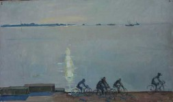 Н.Кулёва. Набережная Таллина. 1964. Х.м..