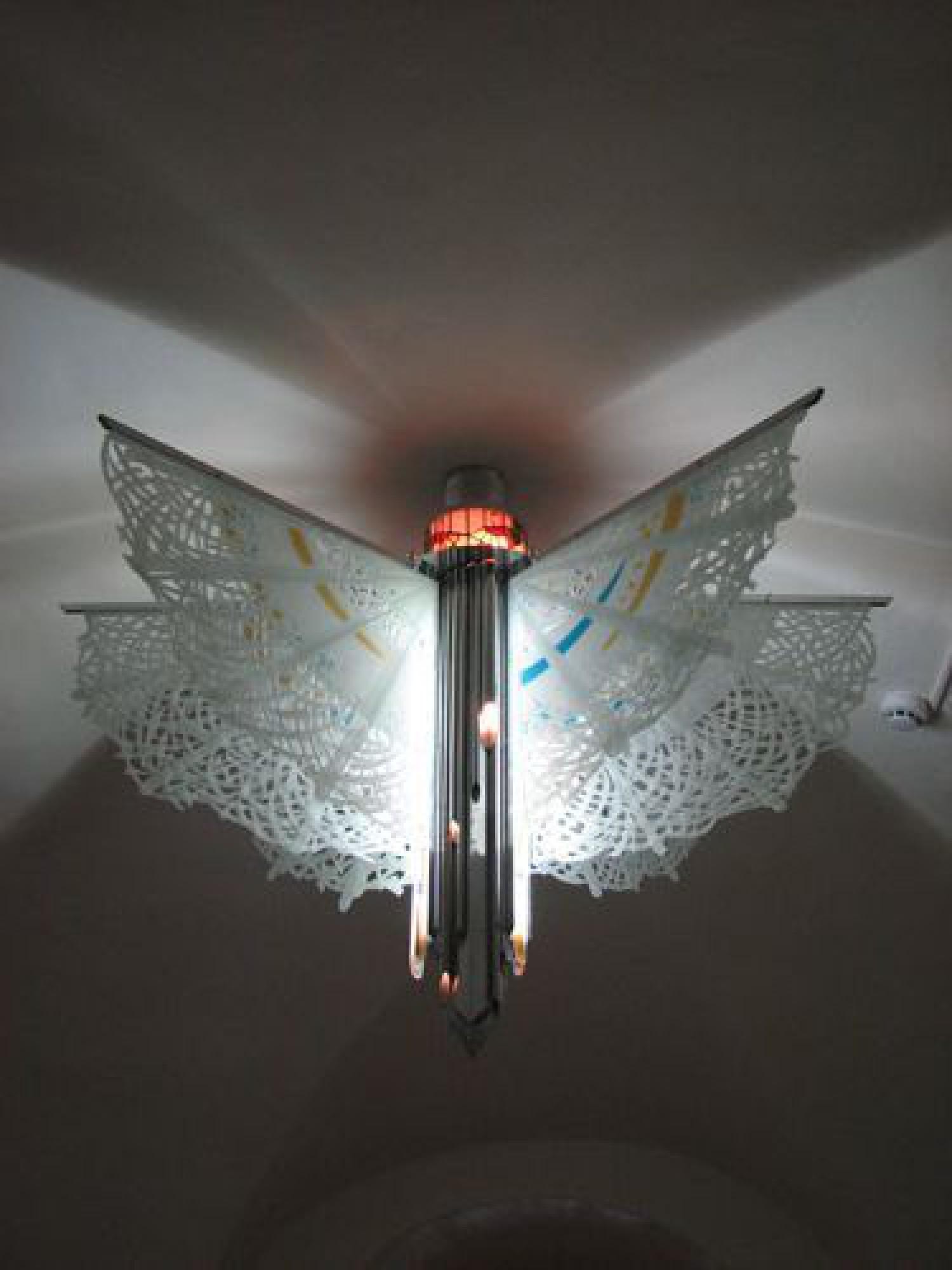 "М.П.Бекетов. Светильник ""Ангел"". 120х120. Стекло, металл. ЯГИАХМЗ. 2006"