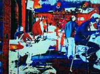 М.Н.Жгивалёва. Малиновый бармен. 2007. Х.м. 120х160. Цена 150 000 р