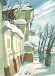 И.А.Сакуров. Ранней весной. 2001. 30х20 Бумага, гуашь.