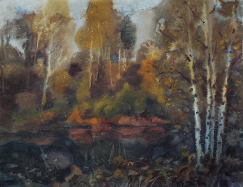 И.Г.Бухаров. Осенний вечер. 2006. 46x59. Бумага, акварель.