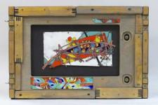 Т.Макарова. Интонация времени. Медь, эмаль, дерево. 46х31. 2004-2006. цена 30 000 р.