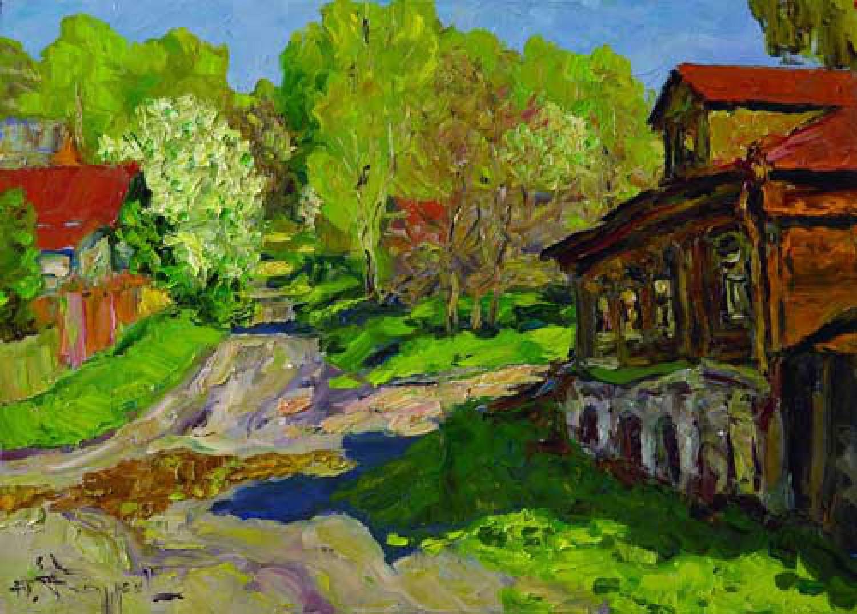 Ю.Д.Жарков. Май в Плёсе. 2007. 50х70. Х.м. Цена - 50 000 р.