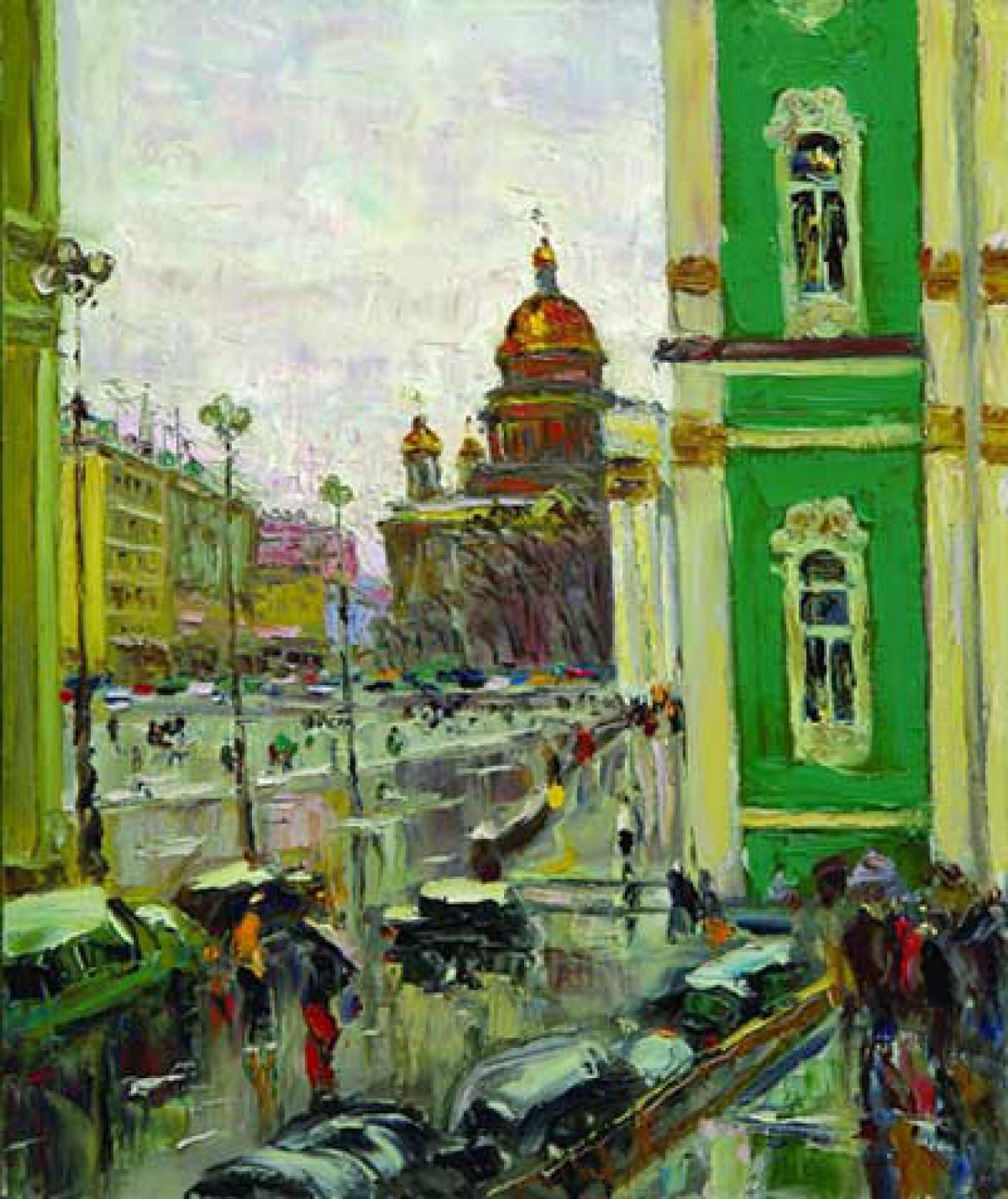 Ю.Д.Жарков. Дождь в Санкт-Петербурге. 2007. 60х50. Х.м. Цена - 50 000 руб.