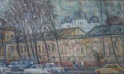 И.Д.Коробейников. Улочка в Ярославле. 2007. 50х70. Холст, масло.
