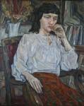 И.Д.Коробейников. Портрет в белой блузе. 2007. 65х80. Холст, масло.