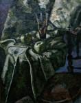 Е.Г.Дарьина. Натюрморт в зелёных тонах. 1974 г. К.,м. 120х90 см.
