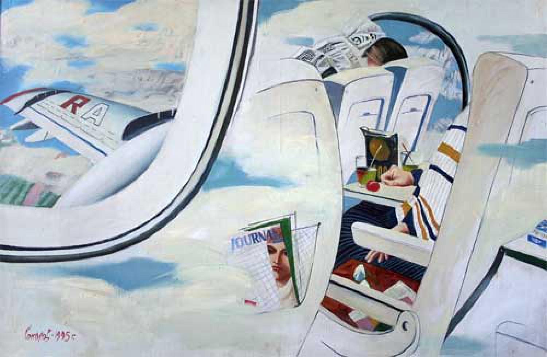 С.Н.Соколов. Время в полёте. Х.м.акрил. 105х160. 1995. Цена 300 000 руб.