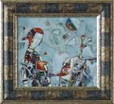 Г.А.Карих. Святочное гадание. 2006 г. 26,5х30,5. Медь, эмаль.