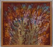 Т.В.Макарова. Когда деревья были большими. 2006. Горячий батик. 62х67.