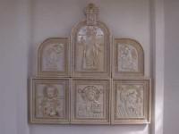 Л.И.Качалов. Иконостас для часовни. 2006. 150х150 см.