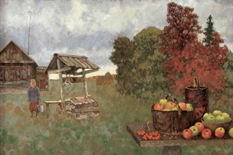 В.А.Ульянов. Осенние дожди. 2005. 80х120 Холст, масло.
