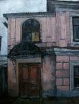 Е.Г.Дарьина. Старинный дом в Ярославле. 1975 г. К.,м. 100х80 см.