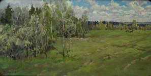 С.М.Коровин. Майская зелень. 2002. 50х60 см., холст, масло.