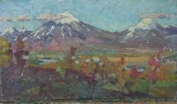 Н.Кулёва. Оваченская и Корягская сопки. 1962. К.,м..