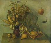 Л.Б.Ковалевская. Букет и плоды. Х.м. 60х80. 1994 г.