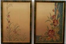 И.Н.Флоринская. Цветы и травы (диптих). 1999 г. нат. шёлк, батик.