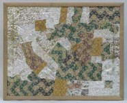 Т.В.Макарова. Цветные камешки-иллюзии. Диптих. 2007. Коллаж. 37х46.