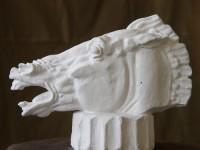 Г.Г.Алексанян. Голова коня. 2006 г. Гипс. 20Х20Х10 см.