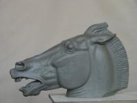 Г.Г.Алексанян. Голова коня. 2007 г. Пластик. 25Х18Х10 см.