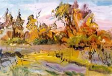 А.С.Александров. Осенний лес. 1997 г. Холст, масло. 45х52 см.
