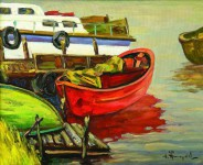 Ю.Д.Жарков. Красная лодка. 2007. 65х80. Х.м. Цена - 60 000 руб.