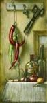 А.Кравцов. Острый натюрморт. 2006. 75х35. Холст, масло.