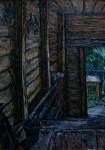 Е.Г.Дарьина. Крыльцо нашего дома. 1979 г. К.,м. 60х40 см.