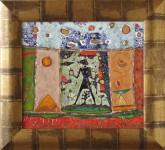 Г.А.Карих. Египетские ночи. 2005 г. 27х31. Медь, эмаль.